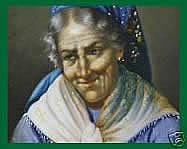 European School Elderly Lady Portrait Oil Painting